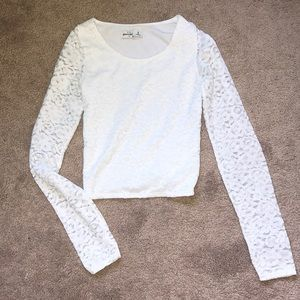 Tight Cropped Lace Long Sleeve
